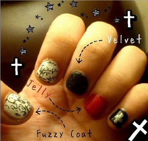 Nail Art: Visual-kei Inspired